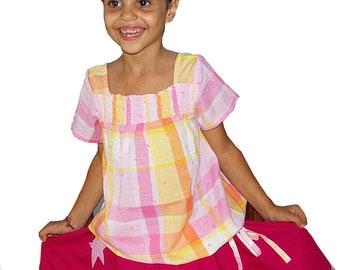 kids fashion A shape dress for girls purple floral print boho summer dress Aummade