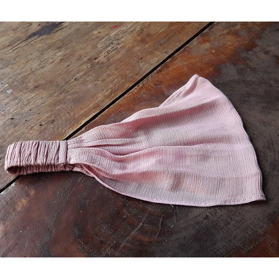 wedding boho Aummade pink dot on grey soft head wrap Headband for girls