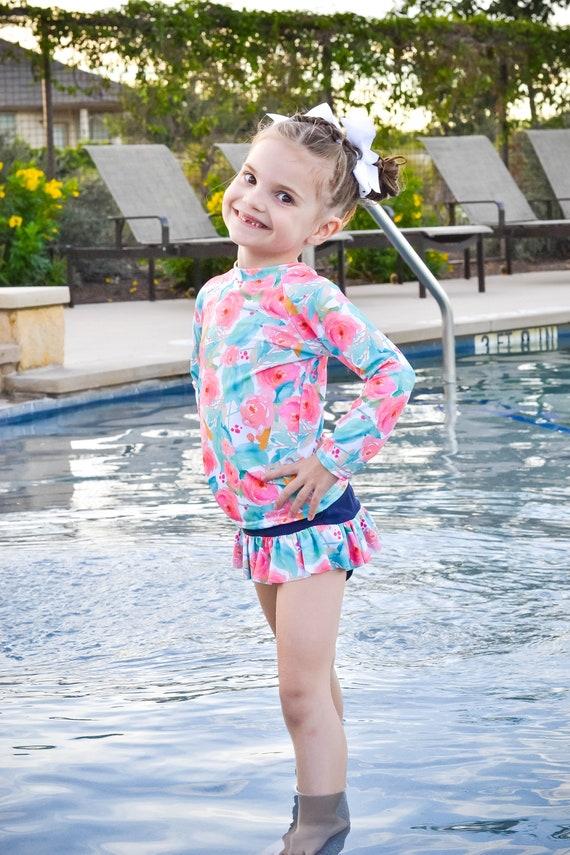 1e56de1db9af4 Swimsuit Girls Swimsuit Toddler Swimsuit Modest Swimsuit | Etsy