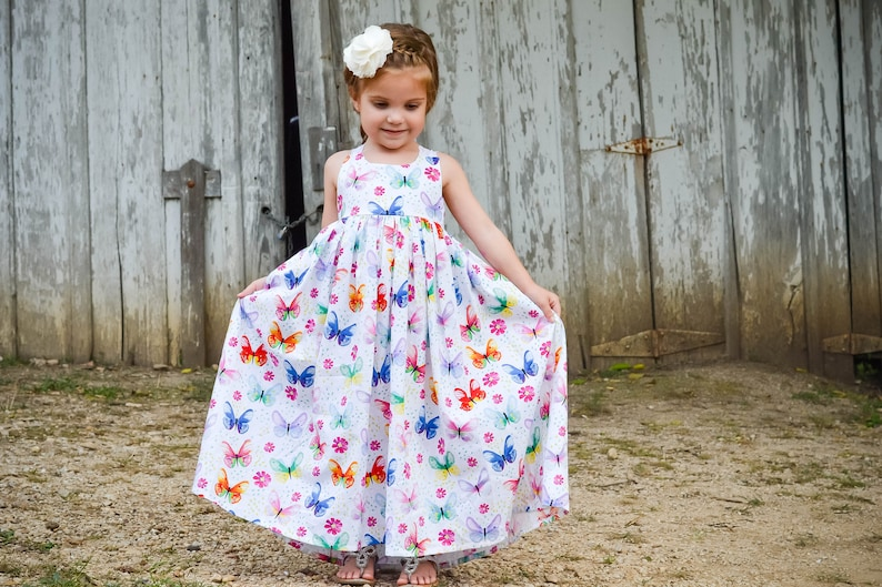 6cc511c72c92 Toddler Maxi Dress Girls Maxi Dress Butterfly Dress | Etsy