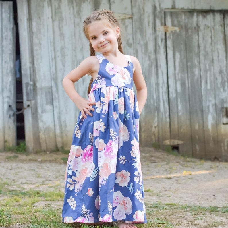 6db23d648308b Girls Maxi Dress Girls Long Dress Toddler Sundress   Etsy