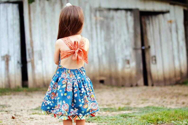 Peek A Boo Dress Girls Dresses Boutique Dress Open Back Dress Sun Dress Strap Dress Party Dress Dress Special Occasion Dress