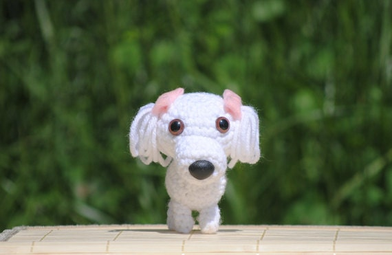 Cute Crochet Maltese Dog Adorable Dog Amigurumi Made to | Etsy | 371x570