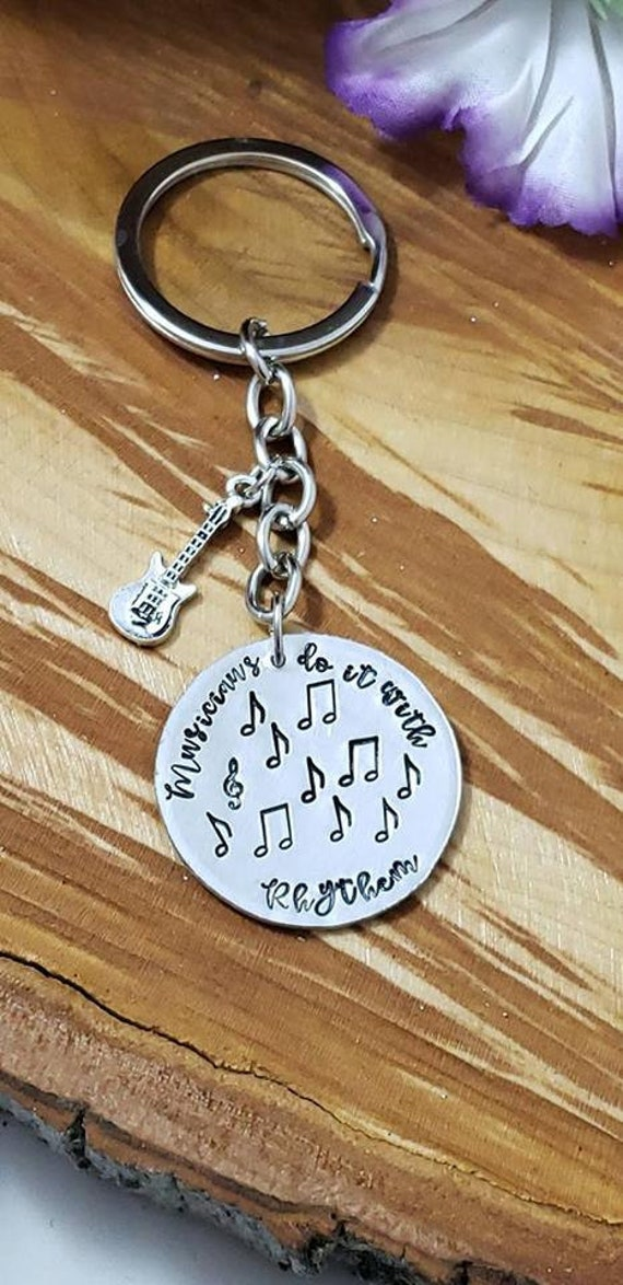 Silver US Guitar Keychain pefect music Gift
