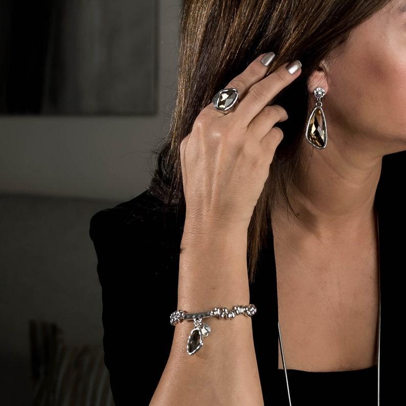 Elegant irregular Crystal  earrings