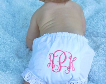 Baby Girl/Toddler Monogrammed Bloomers