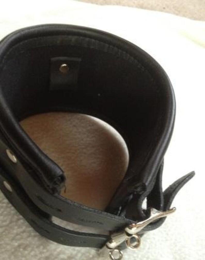 10cm Leder Halskorsett Halsband/4 Leather Posture Collar