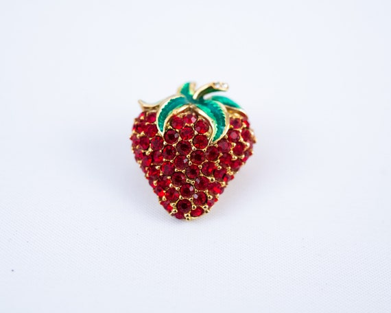 Strawberry lapel pin, strawberry brooch, strawber… - image 6