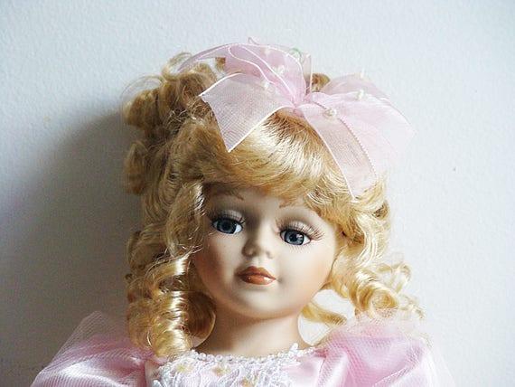Vintage Sammler Wahl Ballerina Porzellan Puppe echte feine Biskuit Porzellan Limited Edition markiert Puppe 17
