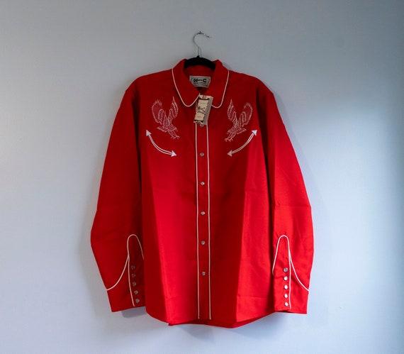 Red H Bar C RanchWear Western Shirt Vintage Double