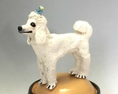 Dog Treat Jar with Poodle and Blue Bird