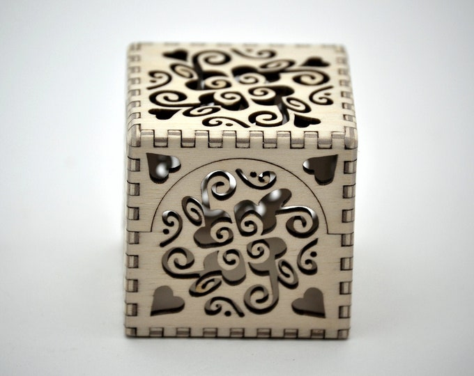 Groovy Heart Box - Laser Cut Plywood
