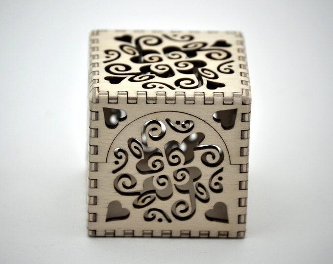 Groovy Heart Box - Laser Cut Plywood