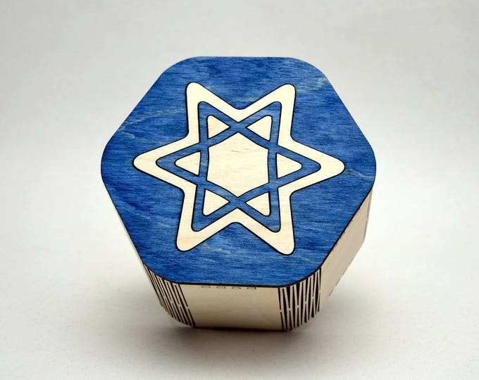 Star of David Box made from Baltic Birch Plywood