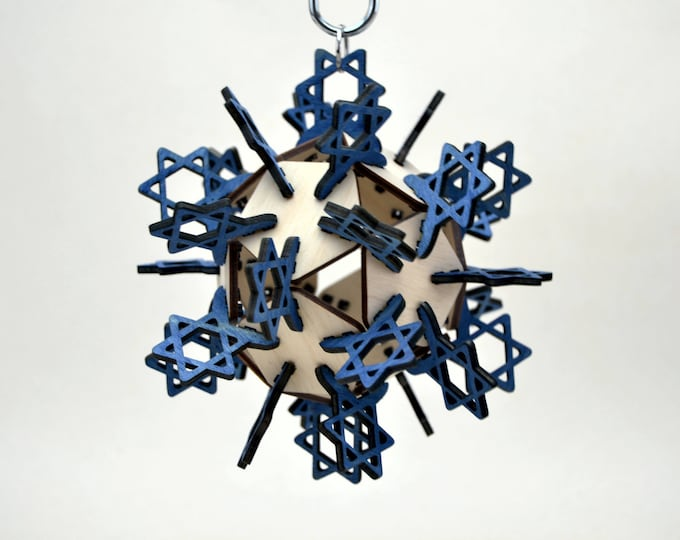 Star of David Plywood Ornament 3d