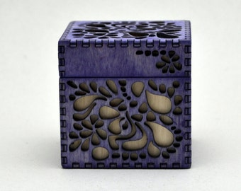 Purple Paisley Cube