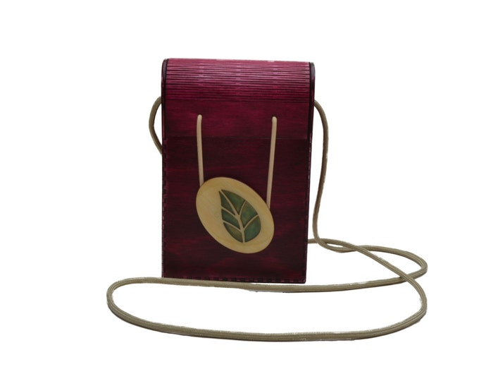 Little Red Plywood Purse