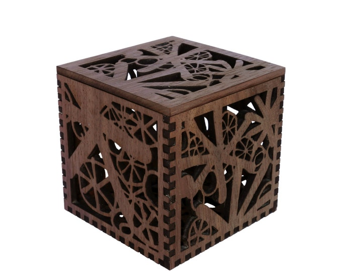 Asterisk Box  in Walnut - Laser cut