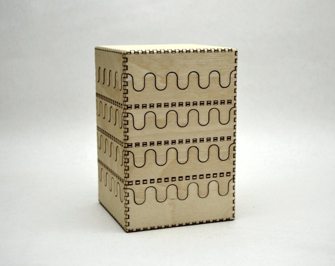 Compact Stacking Plywood Jewelry Box