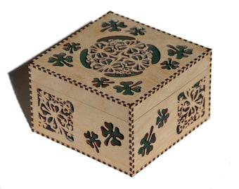Large Shamrock Box