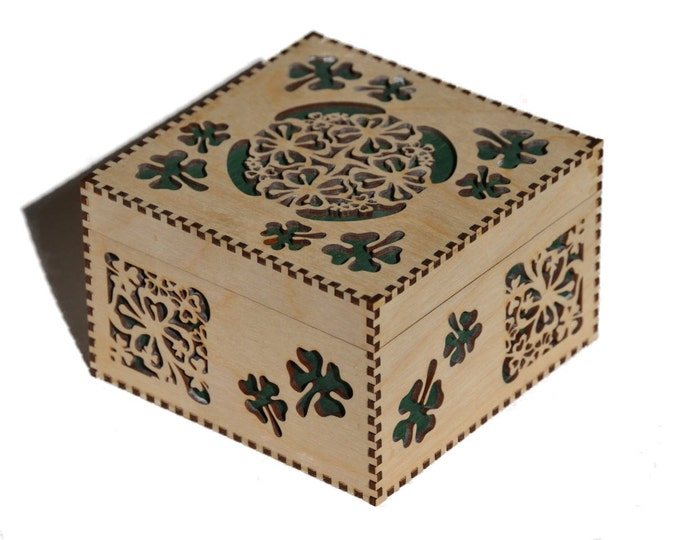 Large Shamrock Box