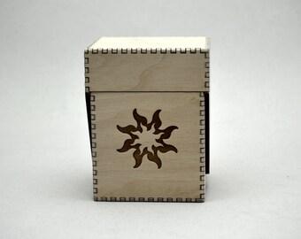 Sun Design on Fantasy Card Flip Top Box
