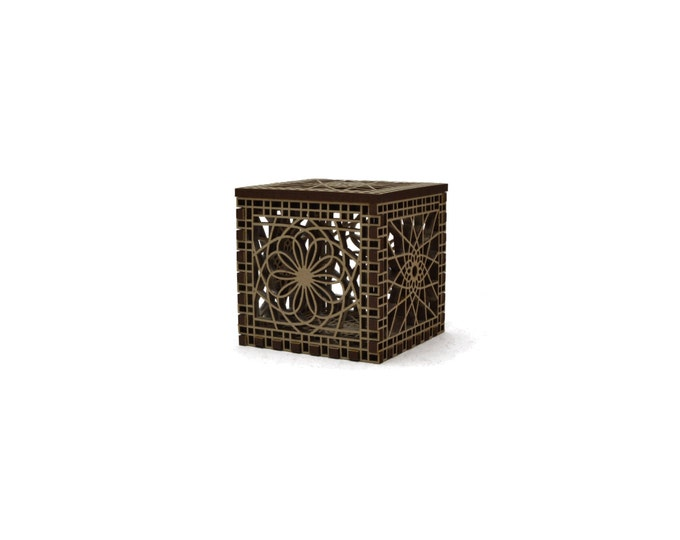 Mini Spiro Lacy Laser Cut Box with Mesmerizing Patterns