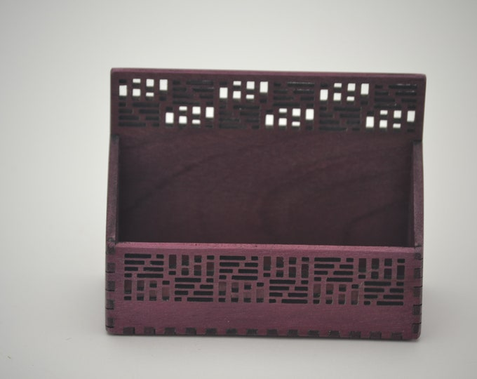 Geometric Business Card Holder