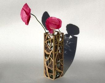 Laser Cut Wooden Vase