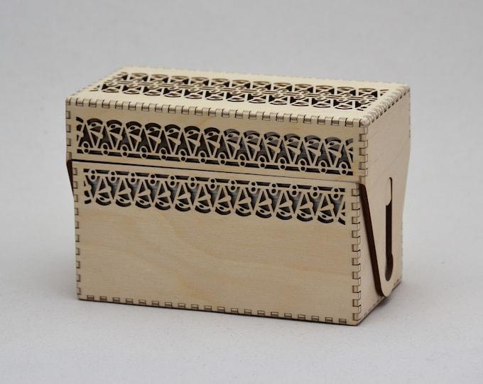 Ric Rac Recipe Card Box