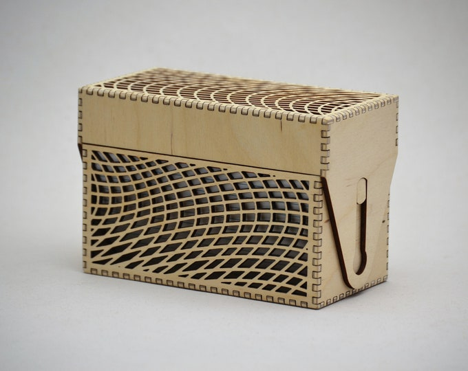 Wave Mesh Recipe Card Box