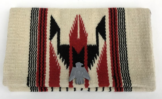 Vintage Chimayo Handwoven Wool Clutch