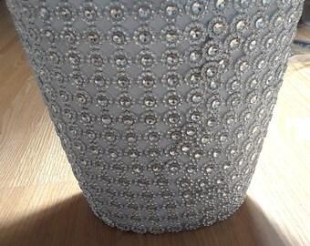 Silver mesh waste basket