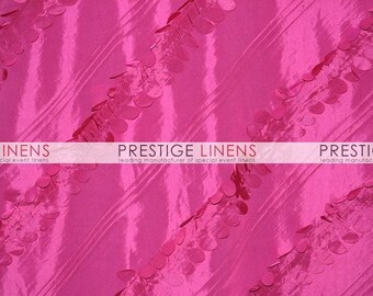 CLOSEOUT FABRIC - Forest Taffeta 3D leaf Dress Apparel - Hot Pink - 2.75 Yard