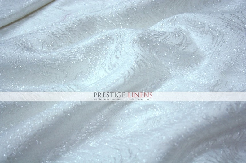 Sparkle Dust Satin Fabric By The Yard Sewing 58 Polyester Wedding Dress Craft White