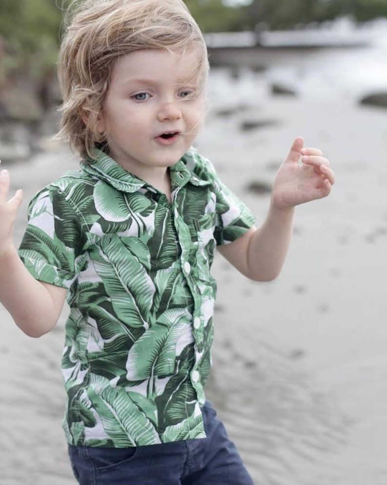 Matching father and son shirt family shirts oxford shirt dress shirt boys tropical shirt collared shirt father and son