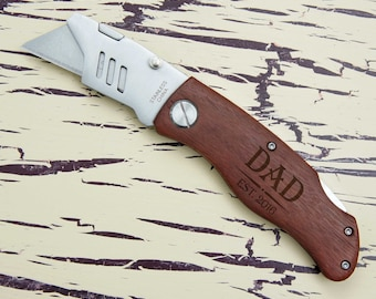 Personalized Utility Knife including Monogram & Engraving Options with Font Selection (Each- Choose Options)