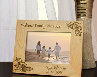 Paradise Found Inspired Personalized Honeymoon & Vacation Picture Frame with Font Selection (Select Size and Frame Orientation)