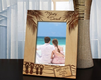 Dream Vacation Inspired Picture Frame with Font Selection (Select Size and Frame Orientation)