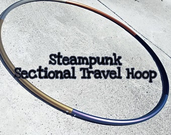 """Steampunk Sectional Travel Hoop--polypro  5/8"""" 3/4"""" currently out of stock"""