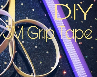 """3m grip tape--clear--1/2"""" or 1/3"""" x 10, 15, 20 or 30 ft. Roll--Grip for hoops DIY"""