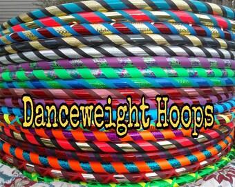 Custom Beginner Hula Hoop designed for you DANCE weight 100 PSI PE Body Hoop Core hooping