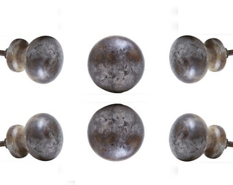 Marble Knob Set Of 6 Nayla Vintage Finish Decorative Cabinet Dresser Pull