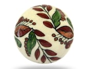 Round Decorative Drawer Pull for an Office or Bedroom, Unique Furniture Handle for a Kitchen Cupboard or Cabinet, Ceramic Furniture Fixture