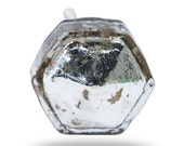 Unique Silver Glass Mirror Knob, San Polo Decorative Cabinet Handle, Dresser Drawer Pull, Wardrobe Door Knob for a Bedroom or Living Room