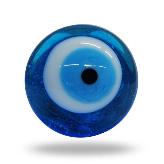 Pomolo per porta vetro blu e bianco occhio magico unico e | Etsy