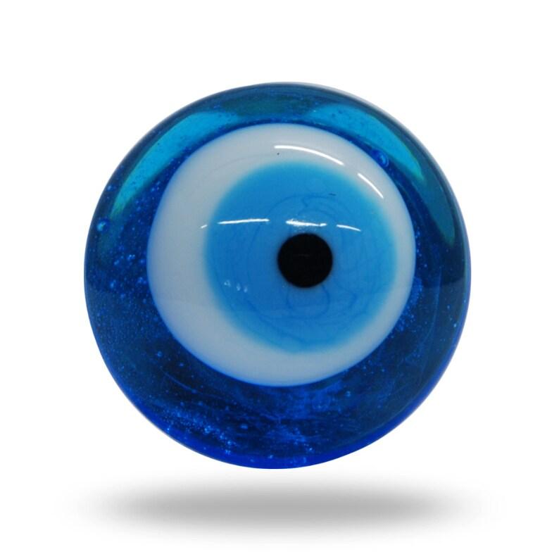 Pomolo per porta vetro blu e bianco occhio magico unico e   Etsy