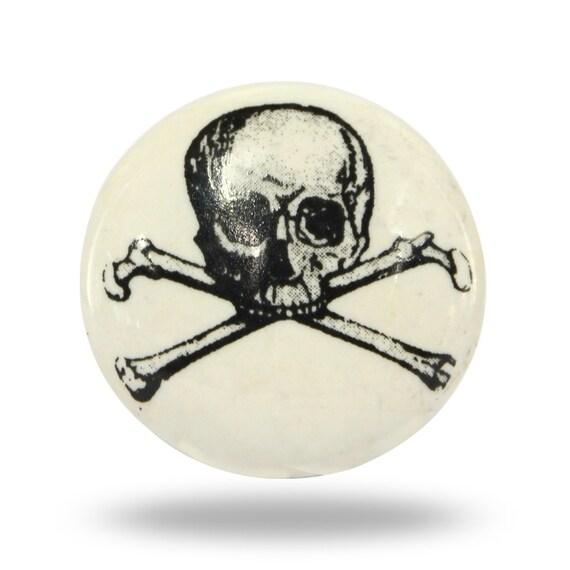 Zwart Wit Skull And Crossbones Decoratieve Deurknop Kast Of Keuken Kast Handvat Trekken Groot Voor Een Bak Houden Van Chemische Stoffen