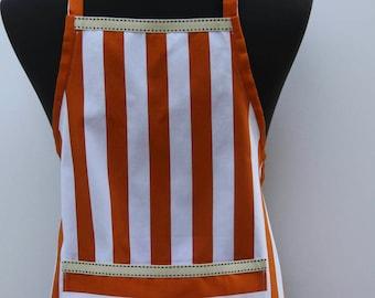 Boys in Style boys orange stripe apron