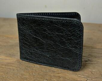 Black Leather Card Holder - Travel card case - Oyster Card Holder - Credit Card Case - Card Wallet